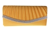 Orange Pleated Satin Wedding Evening Clutch