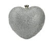 Heart Shaped Clutch Purse Rhinestone Bag