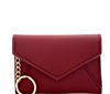 Envelope Style Credit Card Case Wallet With Key Ring