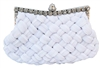 White Bridal Pleated Clutch bag