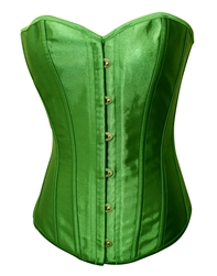 938d5b65f7 Emerald Green Satin Lace Up Sexy Strong Boned Corset