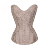 Lace Up Boned Plus Size Overbust Corset